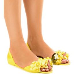 Geel Gele meliski-sandalen met AE20-bloemen