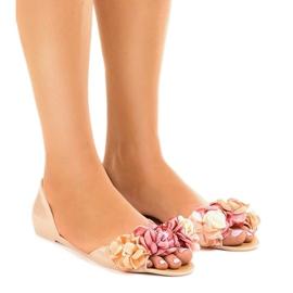 Bruin Beige meliski-sandalen met AE20-bloemen