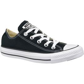 Zwart Converse schoenen C. Taylor All Star Ox Black M9166C