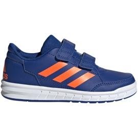 Schoenen adidas Altasport Cf K marine oranje Jr G27086 blauw