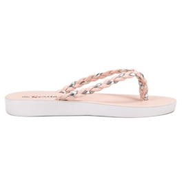 Seastar Roze geweven flip-flops
