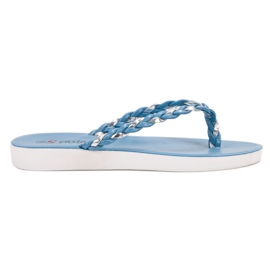 Seastar Blauwe geweven flip-flops