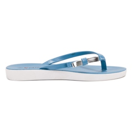 Seastar blauw Flip-flops met strik