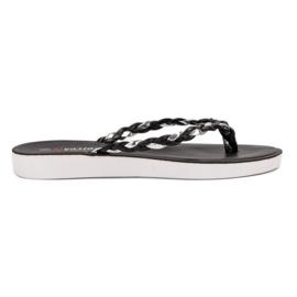Seastar Zwart gevlochten flip-flops