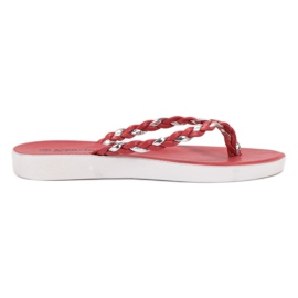 Seastar rood Rode geweven flip-flops