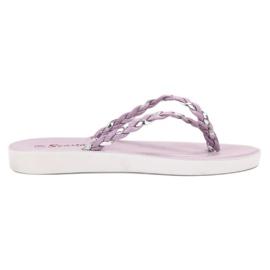 Seastar purper Violet gevlochten flip-flops