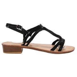 SHELOVET Sandalen in hakken zwart