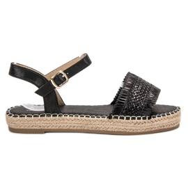Small Swan Espadrilles zwarte sandalen