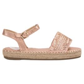 Small Swan Espadrilles roze sandalen