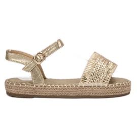 Small Swan geel Golden Espadrilles sandalen
