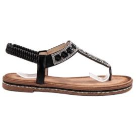 SHELOVET Zwarte Japanse sandalen