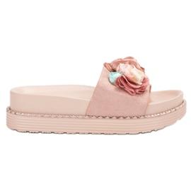 Bello Star roze Slippers op het platform