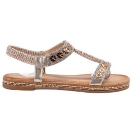 Bello Star geel Gedecoreerd met gouden sandalen