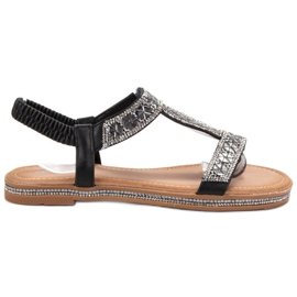 Bello Star Ingerichte zwarte sandalen