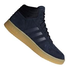 Basketbalschoenen adidas Hoops 2.0 Mid M F34798 marineblauw marine