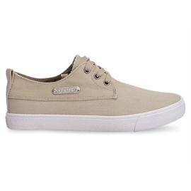 Groen Textiel Sneakers Casual Y011 Khaki