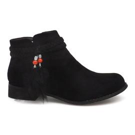 Suede Boots Jodhpur laarzen H1911 Zwart