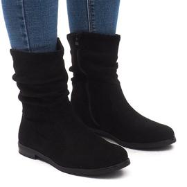 Geïsoleerde laarzen Jodhpur laarzen L7355 Zwart