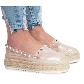 Champagne espadrilles op wig Glam