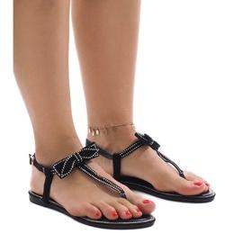 Zwarte sandalen met pailletten CX0707