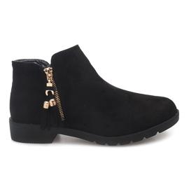 Suede Boots Jodhpur 8565 Zwart