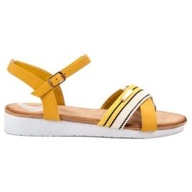 Bello Star geel Sandalen vastgemaakt met een gesp