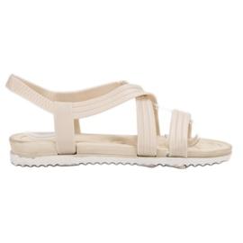 SHELOVET Slip-in rubberen sandalen wit