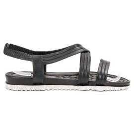 SHELOVET Slip-in rubberen sandalen zwart
