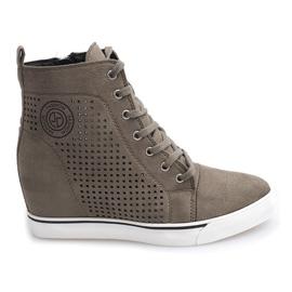 Opengewerkte sneakers XW36236 Olive