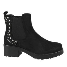 Kayla Shoes Zwarte geïsoleerde hoge hakken 88048