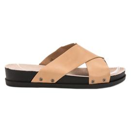 Clowse bruin Beige slippers