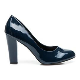 Sweet Shoes blauw Gelakte pumps op een balk
