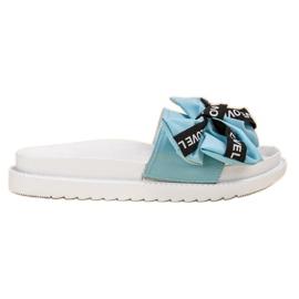 Jumex blauw Flip Flops With Love Bow