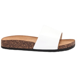 Bello Star Klassieke witte slippers