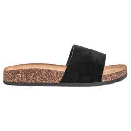 Bello Star Klassieke zwarte slippers