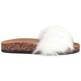 Bona wit Slippers met bont