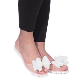 Bruin Beige Flower City meliski sandalen
