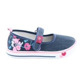 American Club blauw Sneakers sneakers met klittenband TEN15