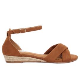 Sandalen espadrilles bruin 9R121 Kameel