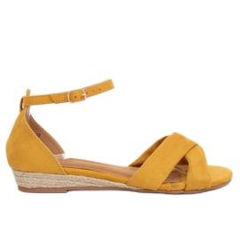 Sandalen espadrilles geel 9R121 Geel