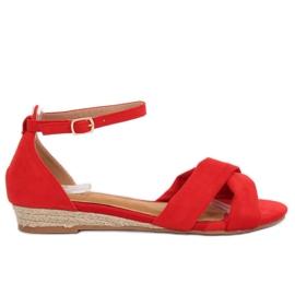 Sandalen espadrilles rood 9R121 Rood