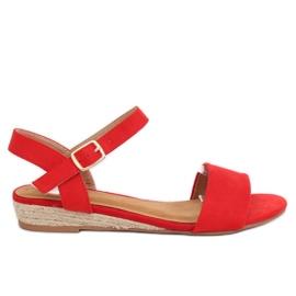 Sandalen espadrilles rood 9R73 Rood