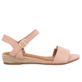 Sandalen espadrilles roze 9R73 Pink
