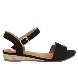 Sandalen espadrilles zwart 9R73 Zwart