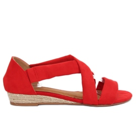 Sandalen espadrilles rood 9R72 Rood