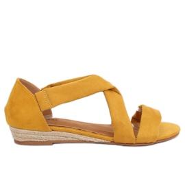 Sandalen espadrilles geel 9R72 Geel