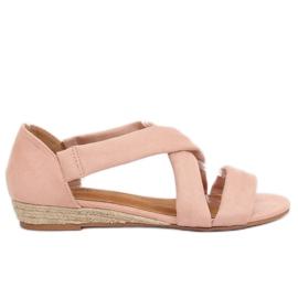 Sandalen espadrilles roze 9R72 Pink