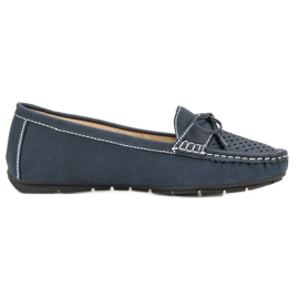 SHELOVET blauw Casual instappers
