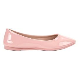 SHELOVET Gelakte ballerina roze