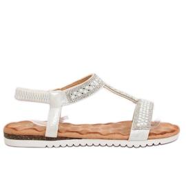 Sandalen dames zilver HT-67 zilver grijs